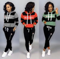 2PC STRIPED HOODIE TRACKSUIT Mississauga, L4Z