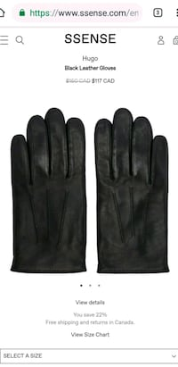 Hugo BOSS premium leather gloves - black Toronto, M4C 5C8