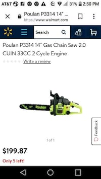 BRAND NEW CHAINSAW IN BOX Meridian, 39307