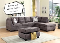 Brand new comfy and sturdy fabric sectional sofa with ottoman warehouse sale  552 km