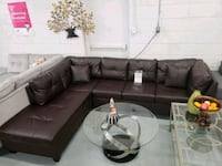 Brand new modern faux leather sectional on sale  Toronto, M9W 1P6