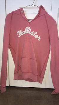 Pink hollister pullover hoodie