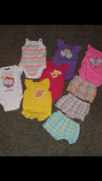 INFANT GIRL summer clothes. Size 0-3 months LOT Lawton, 73501