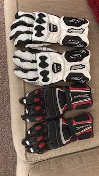2 all leather motorcycle gloves sz med Las Vegas, 89142