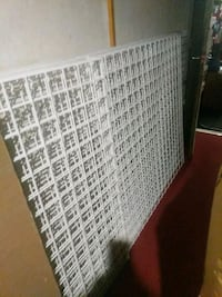 white business display grid wall panels
