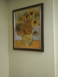 Sunflowers in vase painting by Vincent Van Gogh 563 mi