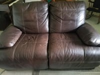 Real leather power sofa and loveseat