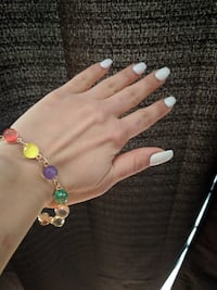 MULTI-COLOR GLASS BEAD BRACLET Coquitlam