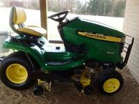 green and yellow john deere ride on mower Goldvein, 22720