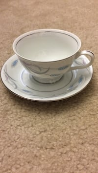 Valmont Royal Wheat china footed cups and saucers  Alexandria, 22315