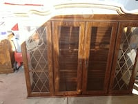 2 piece hutch with lights