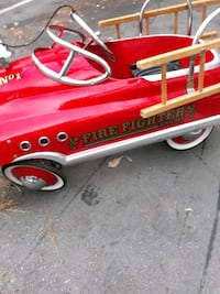 1950 Firemens Pedal fire truck, with ladder