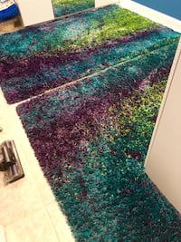 2 Beautiful barcelona peacock rugs ( shades of blue,purple green) Catonsville, 21228