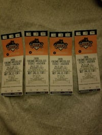 4 Tickets to Grizzlies game Fresno, 93727