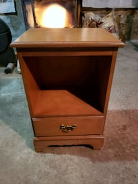 Lamp table bookcase and drawer