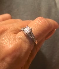Sterling Silver Overlay Ring with Cubic Zirconia Accents Sz 6, 7 or 8 Greenville, 29617