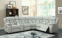 CLEARANCE] Leo Two-Tone Gray Leather Gel Reclining Houston, 77036