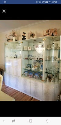 white wooden framed glass display cabinet Irvington, 07111