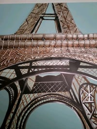"""Beautiful 39""""×29"""" Unframed Eiffel Tower Oil Painting  Indianapolis, 46241"""