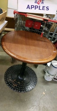 6 restaurant wood tables lot All one money