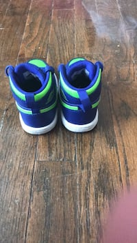 blue-and-green high-top sneakers Flint, 48507
