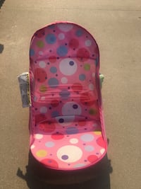 baby's pink and white polka dot bather Fresno