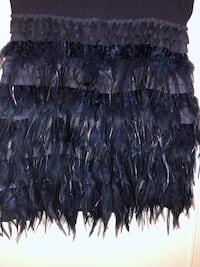 Rare blue feather Holiday Dress Las Vegas