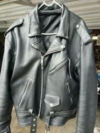 black leather zip-up jacket Lindenhurst, 11757