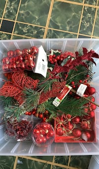 Christmas decor, ornaments, and more. Many still with tags or unopened