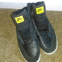 Nike SB Paul Rodriguez 7 Size 11.5 Black and Yellow Special Made (Customized Dirty Nike Check) Loris, 29569