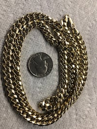 Real gold Cuban link chain