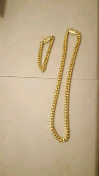 Gold colored cuban link  Jessup, 20794