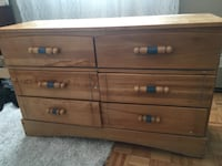 brown wooden 3-drawer chest Toronto, M3N 2N1