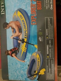 Brand new inflatable boat and oars Durham