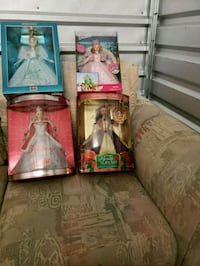four assorted Barbie dolls in boxes Atlanta, 30328