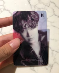 Bts J Hope Transparent Card  Bukit Merah, 169252