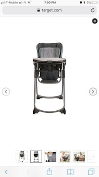 black and gray highchair screenshot Ashburn, 20148