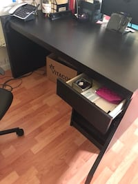 black wooden single pedestal desk Falls Church, 22041