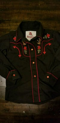 4t girl cowgirl shirt with pearl snap buttons Bakersfield, 93311