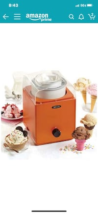 Bella Ice Cream and Sorbet Maker - Red Washington, 20020