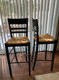 two brown wooden framed brown padded chairs Woodbridge, 22191