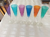 BEAUTIFUL SIX FLUTE WINE GLASSES FORM MINE COLLECTION  Montréal, H9K 1S7