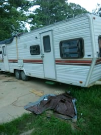white and red camper trailer Acworth, 30102