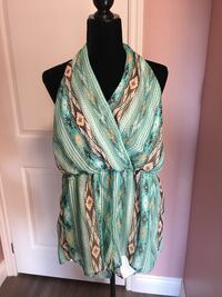 green and white floral sleeveless dress Ajax, L1T 3T9