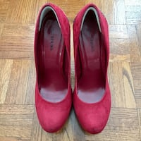 Red Heel Pumps from SPRING Size 8 Vaughan
