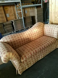 brown and beige fabric loveseat Gainesville, 20155