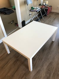 Rectangular white wooden coffee table Vancouver, V6T