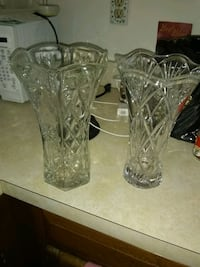 """2 Crystal vases 11"""". And 10"""" Alexandria, 22315"""