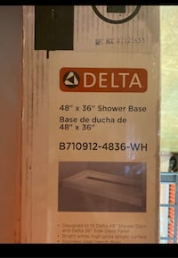 "Delta Shower Base 48""x36"""