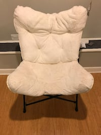 TARGET foldable fuzzy white chair
